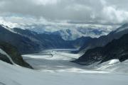 Grosser Aletschgletscher mit Konkordiaplatz, Jungfraujoch - Start der Tour