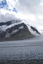 Grosser Aletschgletscher, Konkoridahütten SAC; Dreieckhorn