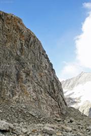Treppe zur Konkordiahütte, Grüneggfirn