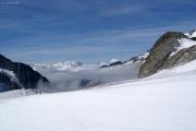 Studergletscher; Monte Rosa, MIschabel, Matterhorn, Weisshorn (vlnr)