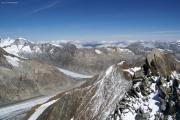 Oberaarhorn (3629müM); Bärglistock(l), Ewigschneehorn, Lauteraargletscher,  Finsteraargletscher
