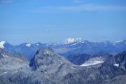 Oberaarjochhütte SAC (3256müM); Piz Morteratsch, Piz Bernina, Piz Roseg