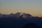Oberaarjochhütte SAC (3256müM); Sonnenuntergang: Alphubel, Täschhorn, Dom, Nadelhorn