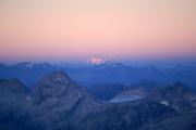 """Oberaarjochhütte SAC (3256müM); """"Blaue Stunde"""" mit Piz Bernina"""