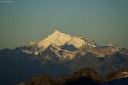 Oberaarjochhütte SAC (3256müM) morgens: Dent d'Herens, Weisshorn, Dent Blanche
