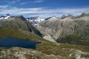 Oberhalb des Triebtenseewli; Unteraargletscher mit Lauteraar- und Schreckhorn