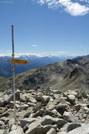 Sidelhorn (2764müM); Obergoms mit Monte Rosa, Mischabel mit Dom, Matterhorn, Weisshorn