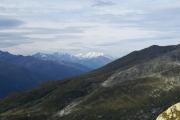 Oberhalb Grimselpass; Obergoms mit Monte Rosa und Mischabel mit Täschhorn und Dom