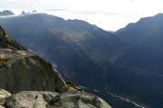 Oberhalb Grimselpass und Gletsch, Furkapass mit Belvédère und Rhonegletscher-Rest