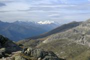 Ob Grimselpass; Monte Rosa, Mischabel mit Dom, Matterhorn