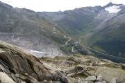 Grütlisee; Rhonegletscher bei Belvédère, Furkapass, Gross Muttenhorn mit Muttgletscher