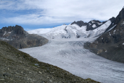 Über dem Rhonegletscher; Dammastock, Rhone- und Tiefenstock
