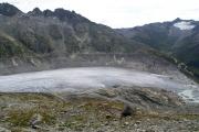 Über dem Rhonegletscher; Gletscherzunge mit See, Belvédère