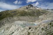 Belvédère; Rhonegletscher: Eisrand mit See, Gärstenhorn
