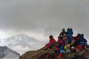 Piz Glüschaint (3593 m): Gipfelrast...