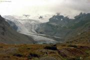 Coazhütte -> Tschiervahütte Roseggletscher im Regen