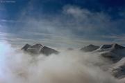 Piz Morteratsch (3751 m): Piz Zupò, Piz Argient, Piz Bernina mit Biancograt