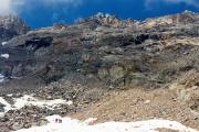 Abstieg Piz Morteratsch: zw. Fuorcla Boval und Bovalhütte