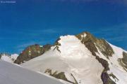 Gletscherterrassen unterhalb der Bellavista: Piz Roseg, Piz Scerscen, Piz Bernina