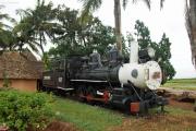 Ausgemusterte Dampflokomotive einer Zuckerbahn, gebaut von Baldwin, Philadelphia (USA). Aguada de Pasajeros, Kuba