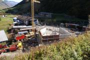 Erweiterung Depot Realp mit neuer Werkstätte. Noch fehlt das Dach, 2009