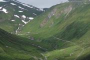 Strecke zwischen Sidelenstafel und Realp. Ende Juni, und breits kaum noch Schnee