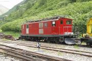 HGe 4/4 Nr. 16 ex BVZ, abgestellt in Gletsch