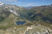 Grimselpass mit Totesee, Rhonegletscher, Furkapass. Lohnende Aussicht vom Sidelhorn (2763müM)