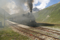 Zug 160 mit HG 3/4 Nr. 1 verlässt Muttbach-Belvédère