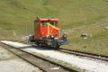 Tm 506 hat seinen Schiebedienst für Zug 160 nach Furka beendet und kommt nach Muttbach zurück