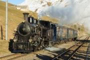 Dampfbahn Furka-Bergstrecke DFB - Dampf am Oberalppass