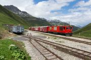 """Probefahrt des """"Dieselzugs"""" mit der HGm 4/4 61 der MGB"""