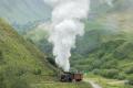 Regelzug nach Oberwald mit HG 4/4 704 bei der Wilerbrücke ob Realp