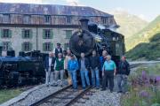"""""""Dampfbahn-Jubiläumsfest in Getsch 22./23.8.2020 """"; Pioniere der Aktion """"Back to Switzerland"""" der Vietnamloks"""
