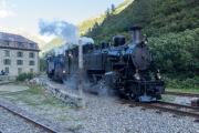 """""""Dampfbahn-Jubiläumsfest in Getsch 22./23.8.2020 """"; Parade mit den Vietnamloks HG 3/4 1 & 9 und HG 4/4 704"""