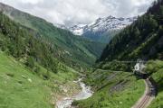 Blauer Regelzug nach Oberwald in der Rottenschlucht