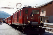 HGe 4/4 I 34 in Oberwald. 1983