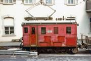 HGe 2/2 21 In Göschenen. 1983