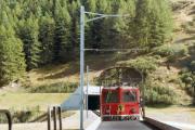 Furka-Basistunnel Portal Oberwald. 1983