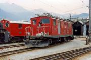 HGe 4/4 I 32 in Disentis. 1987