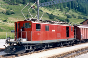 HGe 4/4 I 33 in Oberwald. 1987