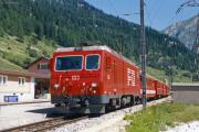 HGe 4/4 II 103 in Oberwald. 1987
