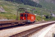 Ge 4/4 81 in Realp. 1987