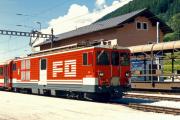 Deh 4/4 II 92 in Oberwald. 1987