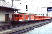 Deh 4/4 II 93 in Andermatt. 1987