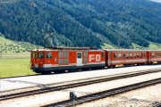 Deh 4/4 II 94 in Oberwald. 1987