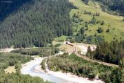 Furka-Basistunnel Portal Oberwald. 1987
