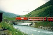 HGe 4/4 II 102 in Realp. 1987