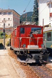 HGe 4/4 I 31 in Disentis. 1988