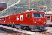 HGe 4/4 II in Andermatt. 1988